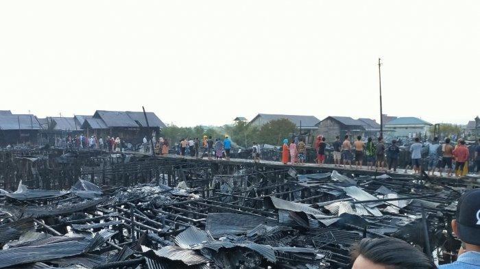 Kebakaran di Palangkaraya, Warga Kaget Lihat Api Membubung dari Barak Pintu Nomor 2