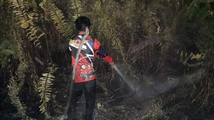 Karhutla di Palangkaraya, Petugas Patroli Keliling Pantau Kawasan Rawan Terbakar
