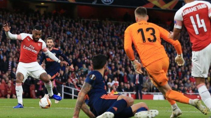 Arsenal Vs Valecia di Semifinal Liga Europa, The Gunners Menang dari Lacazette Cetak 2 Gol