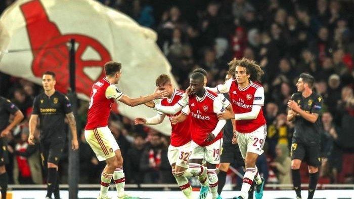 Nicolas Pepe Cetak 2 Gol Jadi Pembeda Arsenal Vs Vitoria Guimaraes di Laga Ketiga Liga Europa