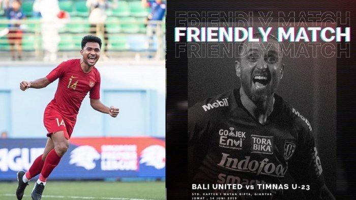 SEBENTAR LAGI Live Streaming Indosiar Timnas U-23 Indonesia vs Bali United, Live Vidio.com