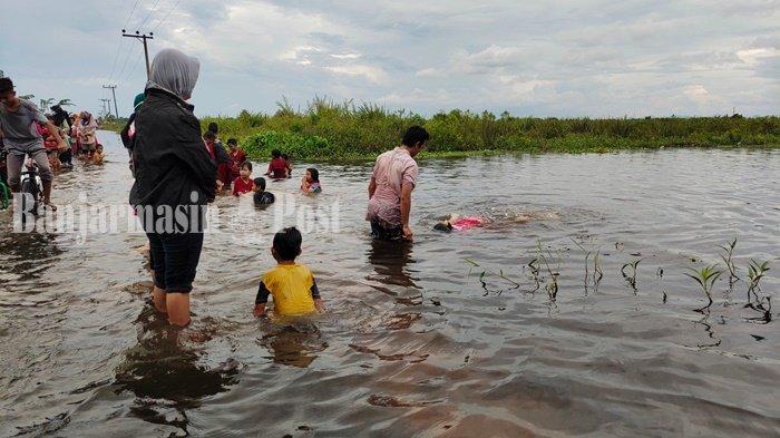 Warga Tungkaran Martapura Kalsel Mulai Gatal-gatal Akibat Banjir