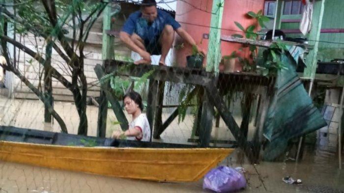 Banjir di Kalsel, Air Bah Terjang Desa-desa pada 2 Kecamatan di Tanahbumbu, 2 Balita Dievakuasi