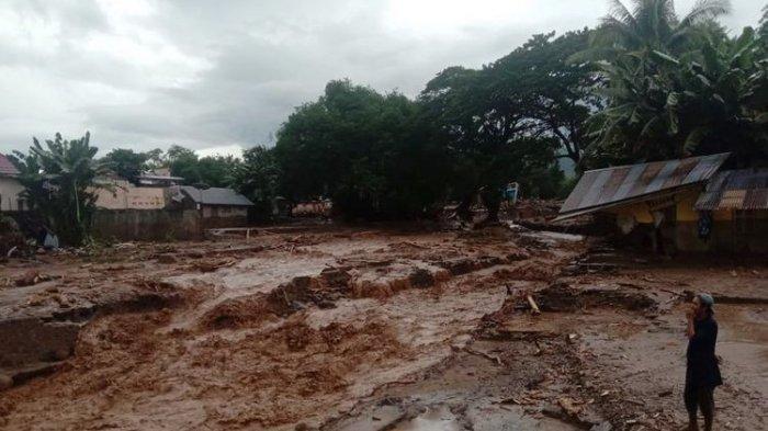 Banjir Bandang Melanda Adonara NTT Saat Paskah, Sudah 67 Warga Tewas
