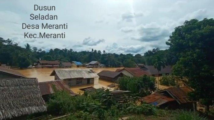 Diguyur Hujan Lebat, Sepuluh Desa di Landak Kalbar Diterjang Banjir