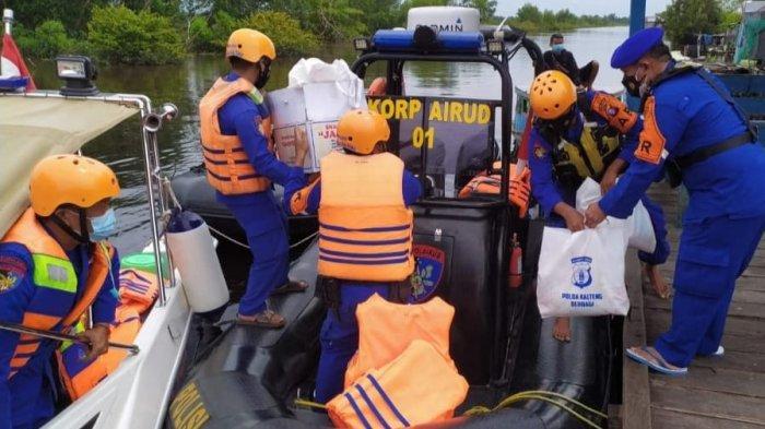 Banjir Luapan Sungai Kahayan di Kameloh Baru Palangkaraya Mulai Surut, Bantuan Terus Berdatangan