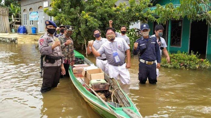 Desa Hanjalipan, Kecamatan Kota Besi, Kotawaringin Timur Selalu Jadi Langganan Banjir