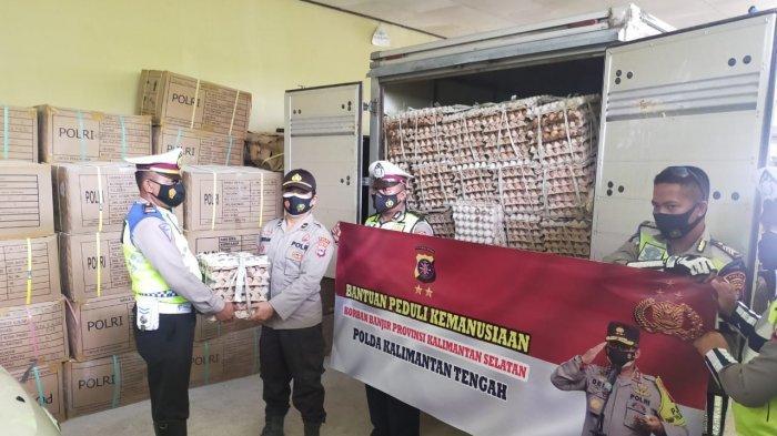 Polda Kalsel Segera Salurkan Bantuan Puluhan Ribu Telur Dari Polda Kalteng untuk Korban Banjir