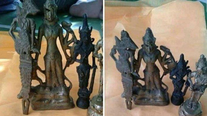 Posting Benda Antik Patung Wayang Temuannya Saat Mendulang Emas, Begini Reaksi Netizen