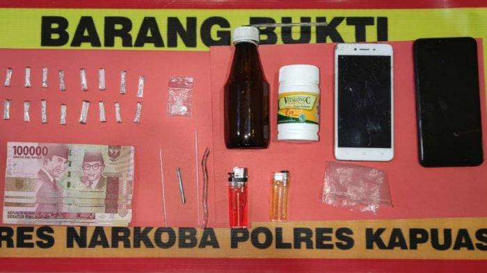 Satresnarkoba Polres Kapuas Bekuk Dua Warga Tamban Catur Kapuas, Barbuk 17 Paket Sabu Diamankan