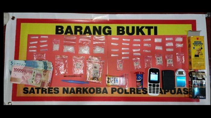 Digeledah Polisi,  Pria Kapuas Kalteng Ini Simpan 30 Paket Sabu