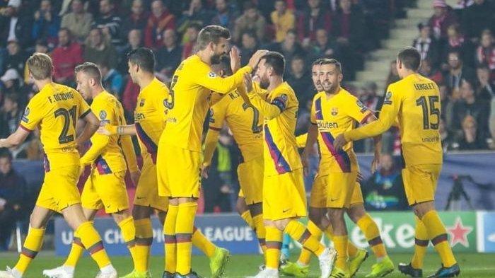 Gol Cepat Lionel Messi Bawa Barcelona di Puncak Klasemen Grup F Liga Champions Usai Tekuk Praha