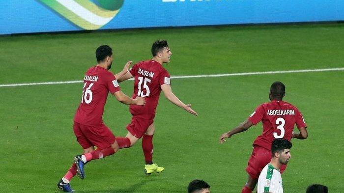 Hasil Piala Asia 2019, Timnas Qatar Lolos ke Delapan Besar Piala Asia 2019 Usai Menang Atas Irak