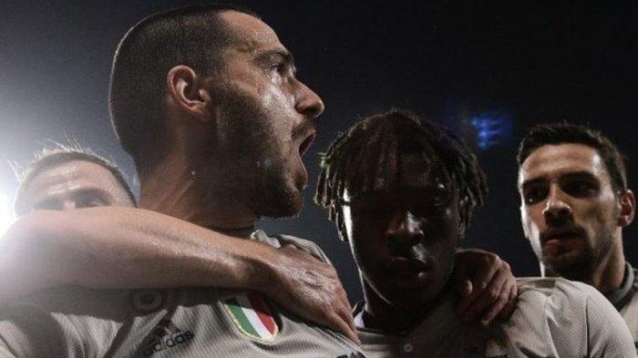 Liga Italia, Juventus Menang 2 Gol oleh Bonucci dan Moise Kean Tanpa Bisa Dibalas Cagliari