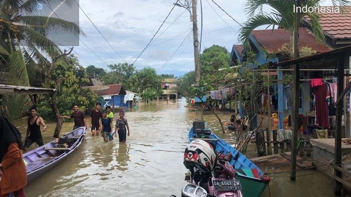 Ribuan Orang Terdampak Banjir Besar di Kabupaten Tanah Bumbu Kalsel