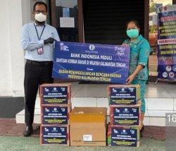 BI Kalteng Salurkan Beras Produksi Petani Kalimantan Tengah Bantu Korban Banjir