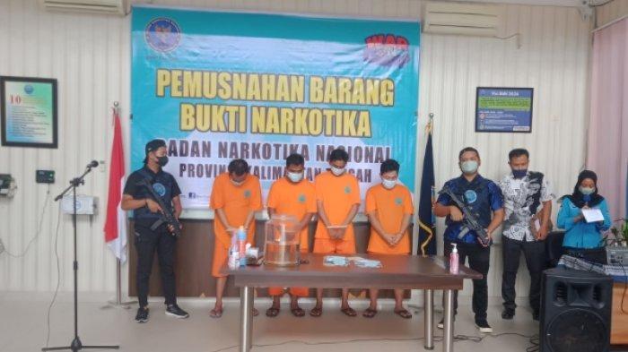 BNNP Kalteng Musnahkan 250 gram Barang Bukti Sabu Jaringan Pontianak dan Banjarmasin