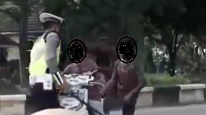 Viral, Bocah di Tapin Kalsel Ini Sampai Banting Motor Tak Terima Ditilang Polisi