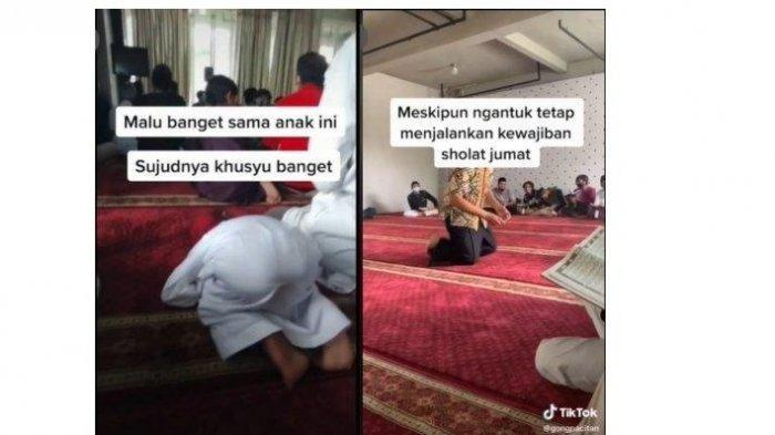 Tertidur Saat Sujud Sholat Jumat, Bocah Ini Didoakan Jadi Marbot Masjid, Videonya Viral di TikTok