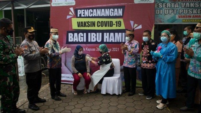 Pencanangan Vaksinasi Covid-19 Ibu Hamil di Kabupaten Kapuas , Begini Harapan Bupati Kapuas