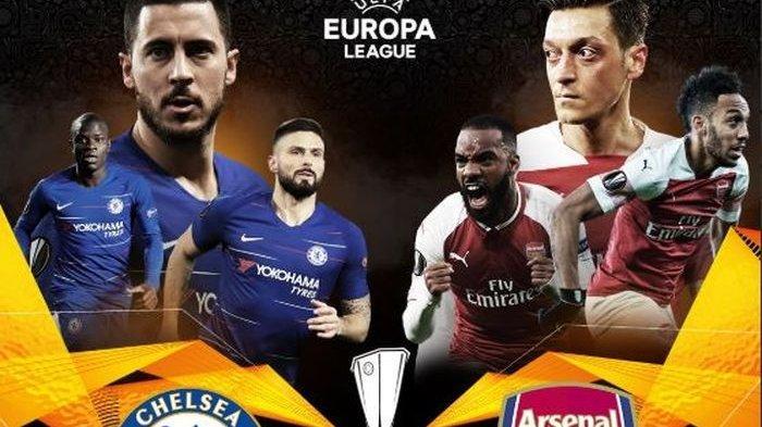 Dini Hari Esok, Final Liga Europa Musim Ini, Chelsea Vs Arsenal Disiarkan Langsung RCTI