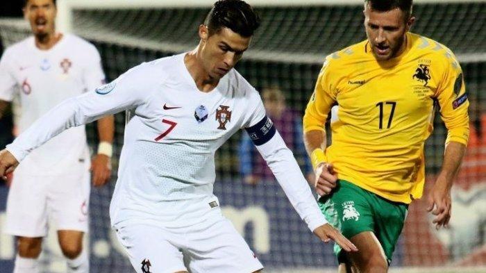 Cristiano Ronaldo Kembali Cetak 4 Gol di Laga Portugal Vs Lithuania pada Kualifikasi Euro 2020