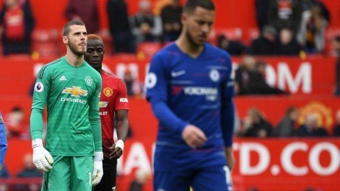 Manchester United Vs Chelsea di Liga Inggris Imbang 1-1, David De Gea Kembali Blunder