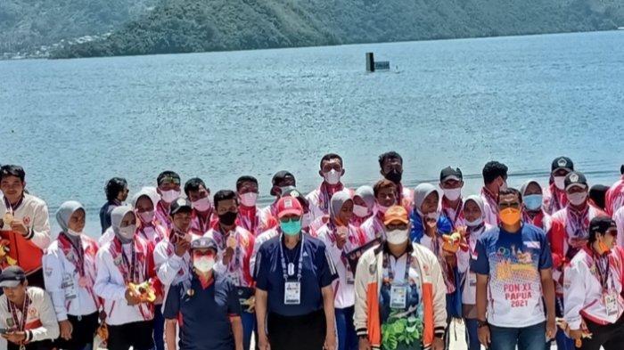 Medali Emas Pertama Kalteng di PON XX Papua, Hasil Perjuangan Berat Kalahkan Tim Dayung Jabar