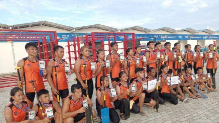 Akhirnya, Emas Pertama Kalteng di PON XX Papua, Cabor Dayung Terus Raih Medali