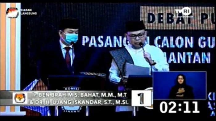 Debat Terakhir, Ujang Iskandar: Gubernur dan Wakil Gubernur Harus Kompak Bangun Kalteng