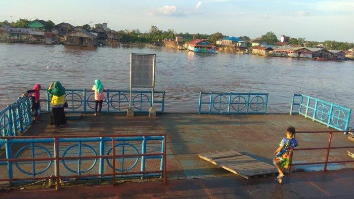 Curah Hujan Tinggi Warga Palangkaraya Was-was Sungai Kahayan Meluap