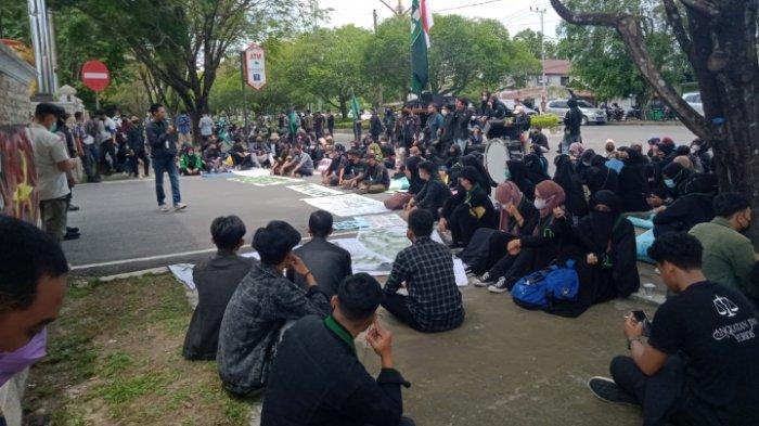 Dua Aksi Unjuk Rasa Damai Mahasiswa Kalteng Digelar di Dua Tempat di Palangkaraya