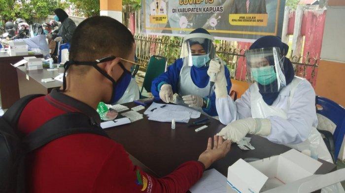 Dinsos Kapuas dan Relawan Tagana Jalani Rapid Test, Hasilnya Semua Non Reaktif