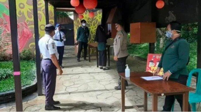 Wabah Corona Kalsel, Petugas Polsek Banjarbaru Timur Lakukan Patroli ke Tempat Wisata