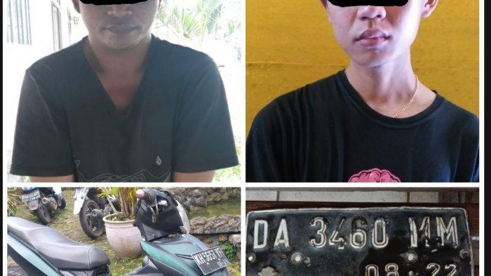 Pencurian Motor Kalsel, Gasak Motor Pria Anjir, Dua Pria Ini Diciduk Polisi