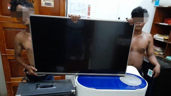 Polisi Bekuk Dua Tersangka Pencuri Barang Elektronik Rumah Warga di Baamang Tengah Sampit