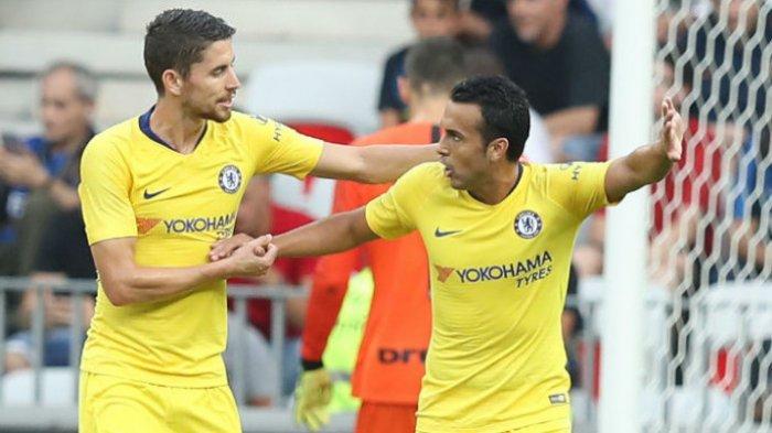 Chelsea Kontra Inter Milan di ICC 2018 - Alvaro Morata Cetak Gol, Sarri Belum Puas