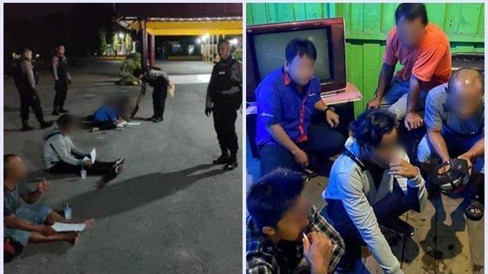 Pesta Miras di Warung Remang, Enam Pria dan 1 Wanita Ini Diciduk Personil Polda Kalteng