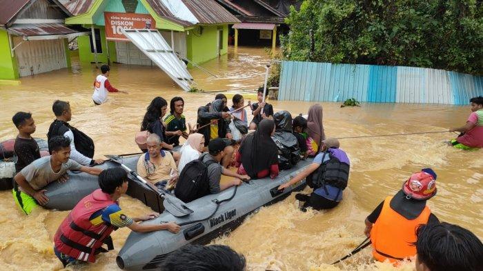 Banjir Sapu Barabai HST Kalsel, Tujuh Warga Meninggal