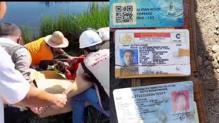 Ditemukan Mengapung di Desa Banua Anyar Cintapuri Darussalam Banjar, Korban Terlihat Perbaiki Motor