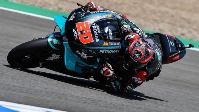 Hasil Kualifikasi MotoGP Andalusia 2020, Quartararo Pole, Vinales Kehilangan Best Lap, Marquez Jatuh