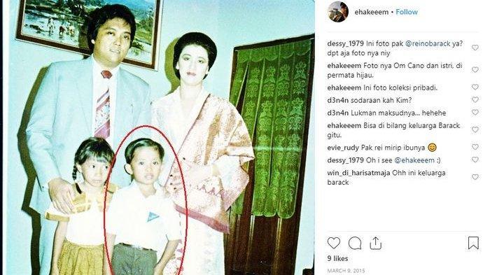 Potret lawas Reino Barack dan Maya Barack saat masih kecil