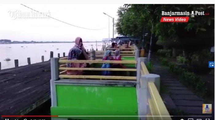 VIDEO Kaltengpedia: Nyamannya Bersantai di Taman Danau Mare dekat Dermaga KP3 Kapuas Kalteng