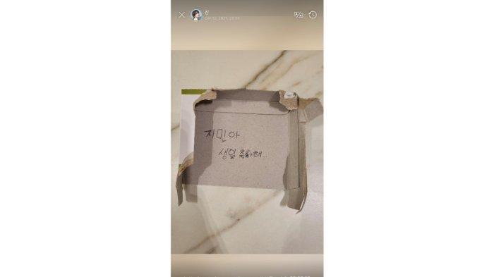 Foto ucapan ulang tahun dari Jin untuk Jimin BTS