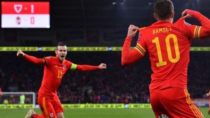 Dua Gol Aaron Ramsey Bawa Wales ke Putaran Final Euro 2020, Berikut Hasil Lengkap Laga Lainnya