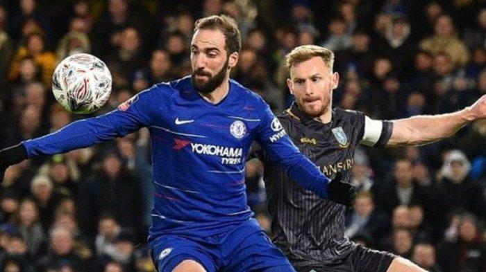 Debut Pertama Higuain, Chelsea Menang Telak 3 Kosong Kalahkan Sheffield Wednesday di Piala FA