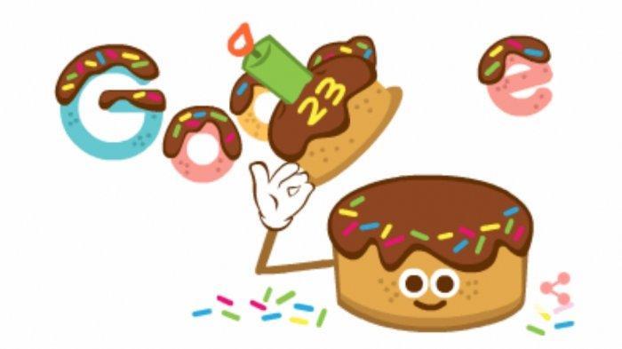 'Mbah Google' Ulang Tahun ke-23, di Medsos Adem Ayem, di Website buat Google Doodle Kue