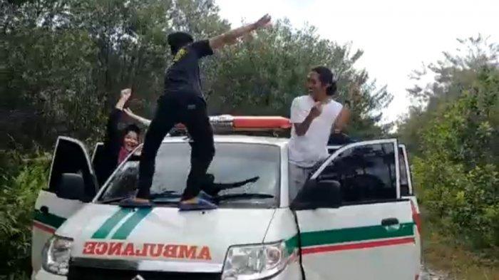 Mahasiswa Pelaku Aksi Goyang di Atas Ambulans Minta Maaf, Dilakukan Saat KKN di Kapuas