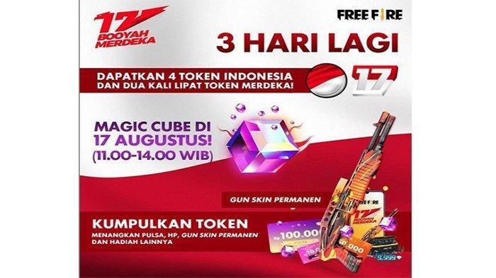 Gratis Game Free Fire Hari Ini, Bagi-bagi Magic Cube Gratis Edisi 17 Agustus Booyah Merdeka