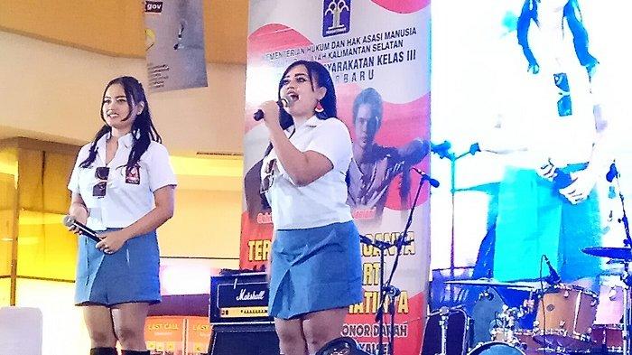 Tampil di Q Mall,  Vanya dan Clara  Bocorkan Nama Populer Duo Semangka